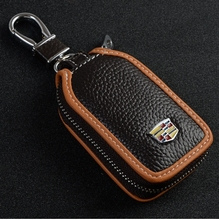 New Skylight design Lichee Leather Car Key Wallet For Cadillac Graceful style Auto key cover / case for Cadillac with gift box