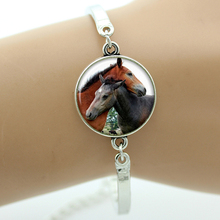 Buy TAFREE Brand fashion love horse bracelet vintage animal art Horses Donkey Hippo glass cabochon dome men women jewelry charm B261 for $1.19 in AliExpress store