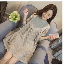 3 color 100%cotton maternity clothes 2016 spring fashion lace mon dress for pregnancy tassel style plus size M-XXXL hamile giyim(China (Mainland))