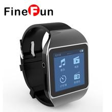 FineFun New Ultrathin Touchscreen Bluetooth Smart Watch mp3 player sport running lossless mp3 players 4GB memory capacity(China (Mainland))