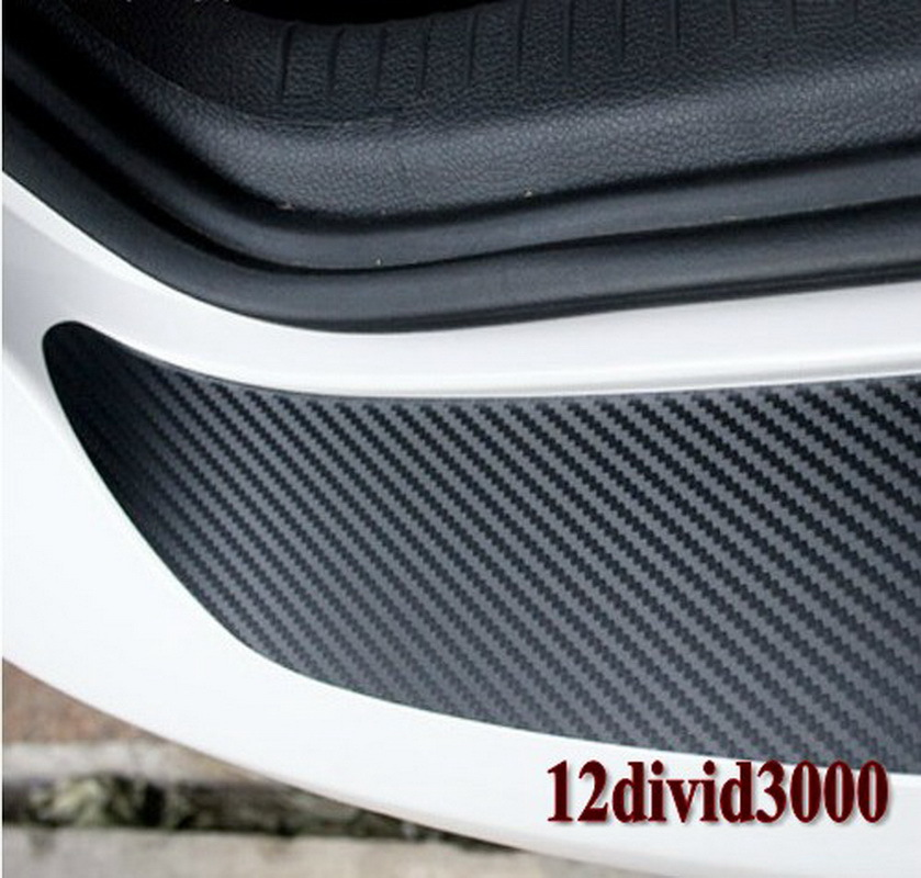 rear bumper protection carbon fiber sticker fit vw mk6 golf gti r20 car styling in stickers. Black Bedroom Furniture Sets. Home Design Ideas