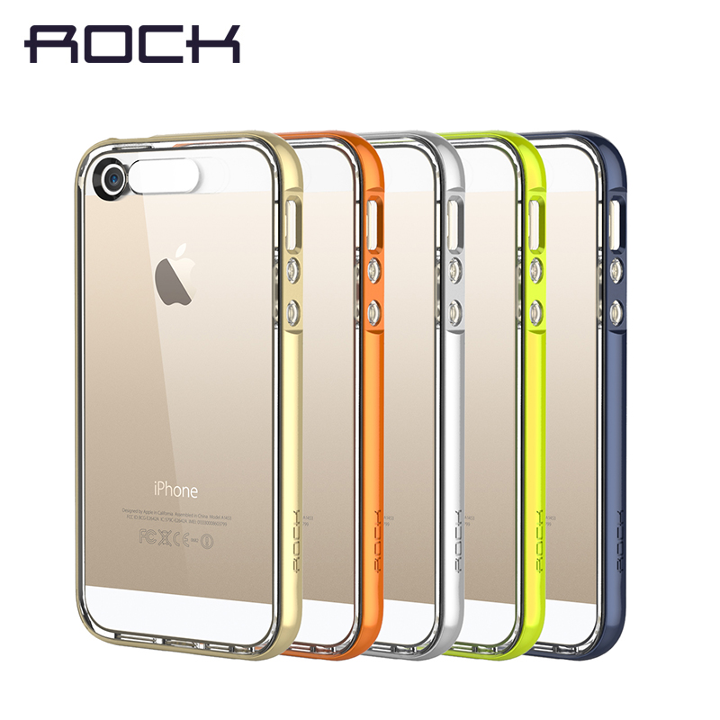 Case for iPhone5 iPhone 5s SE Transparent TPU Cover Luminous Lighting Cool Discolorous LED Flash Reflection Rock Brand
