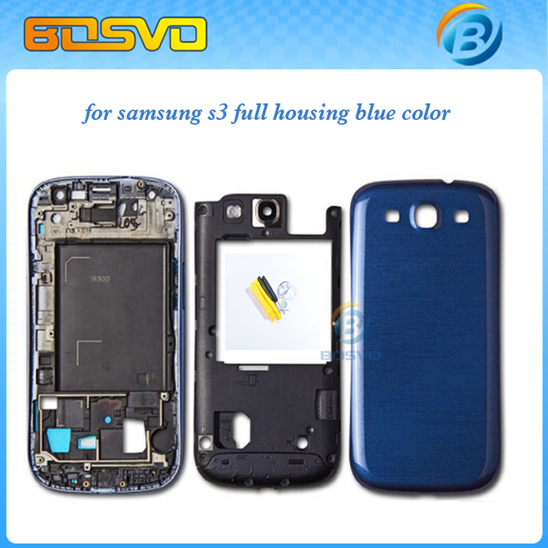 Original Replacement Parts for samsung galaxy s3 i9300 housing full set Cover Carcase case siii Accessories 1piece free shipping(China (Mainland))