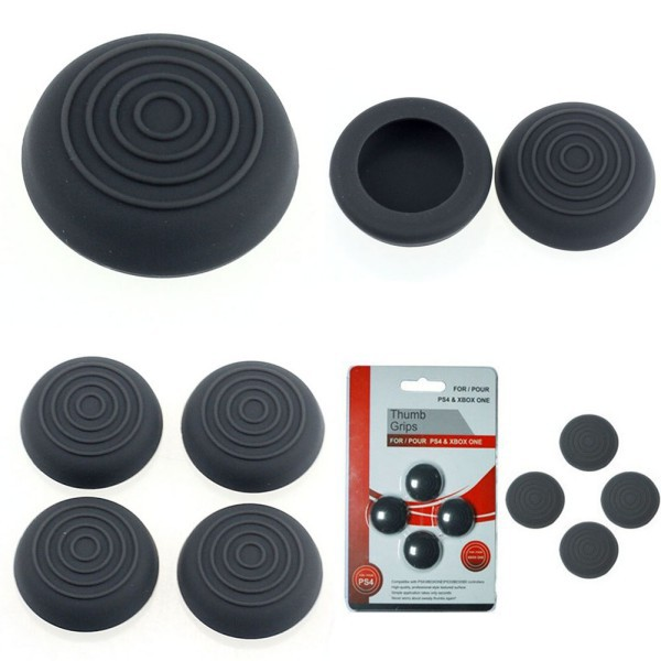 Hot Sales 4Pcs Silicone Gel Thumb Stick Grip Cover Caps For PS4 PS3 XBOX 360 Controller(China (Mainland))