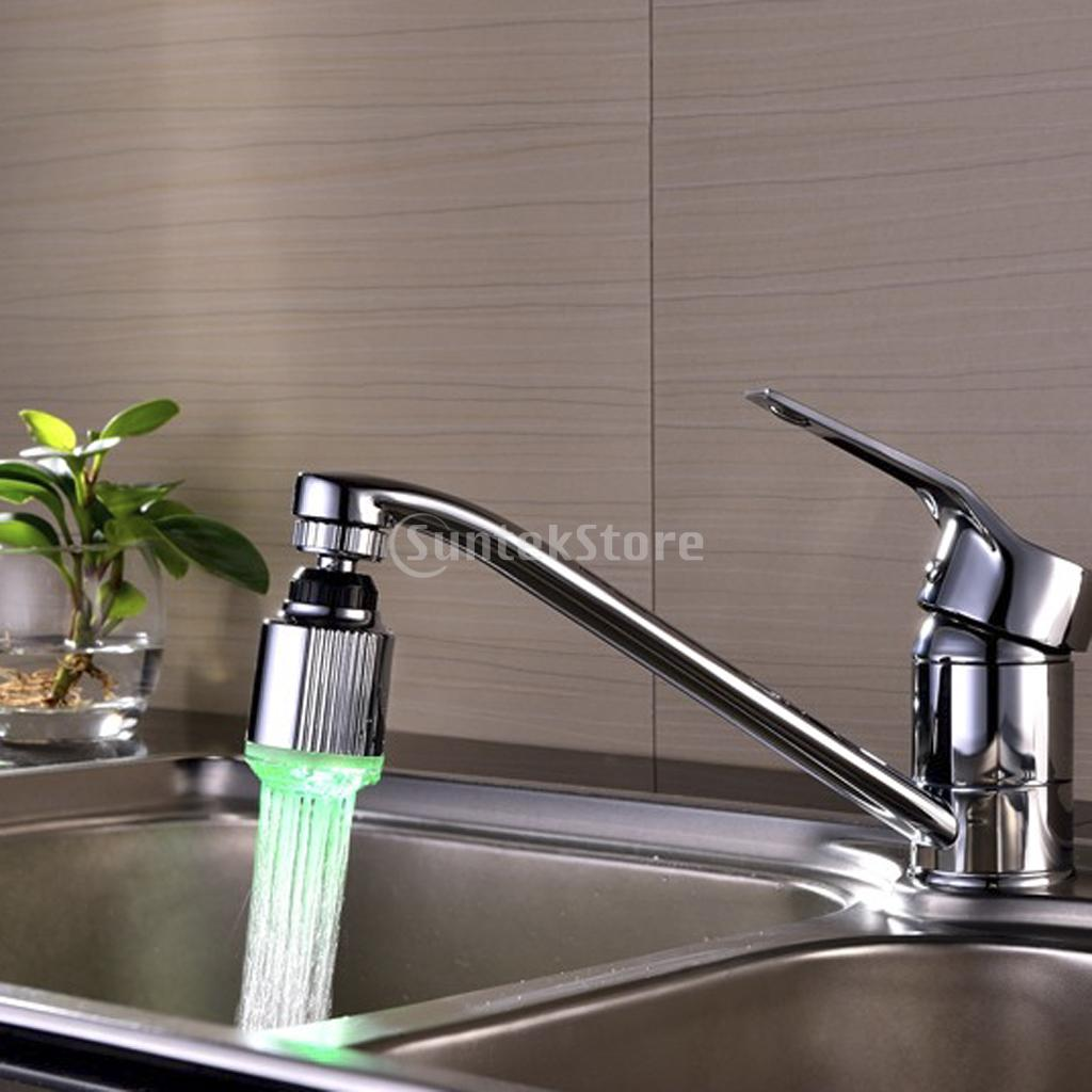 7 Color Changing LED Light Water Faucet Tap with 360 Rotating Adapter Free Shipping(China (Mainland))