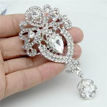 LNRRABC Delle Donne di Modo di Grandi Dimensioni Spille Signora Fiocco di Neve Imitazione Perle di Strass di Cristallo di Cerimonia Nuziale Spilla Spille Gioielli Accessoriare(China)