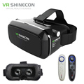 VR Shinecon Pro Virtual Reality 3D Glasses VR Google Cardboard Headset Head Mount for Smartphone 4