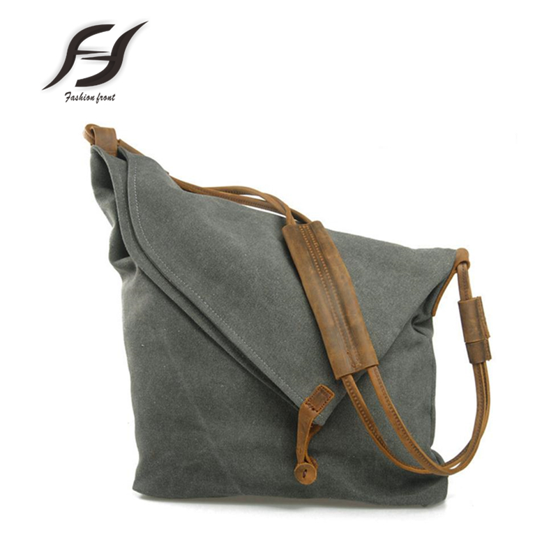 Hot selling 100% Crazy horse leather shoulder girdle canvas men bag high-capacity boy schoolbag Vintage colour messenger bag<br><br>Aliexpress