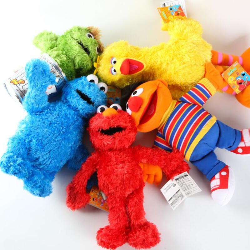 5 Styles Sesame Street Cute Doll Stuffed Charm Toys ELMO BIG BIRD COOKIE MONSTER BERT ERNIE Best Gift for Kids(China (Mainland))