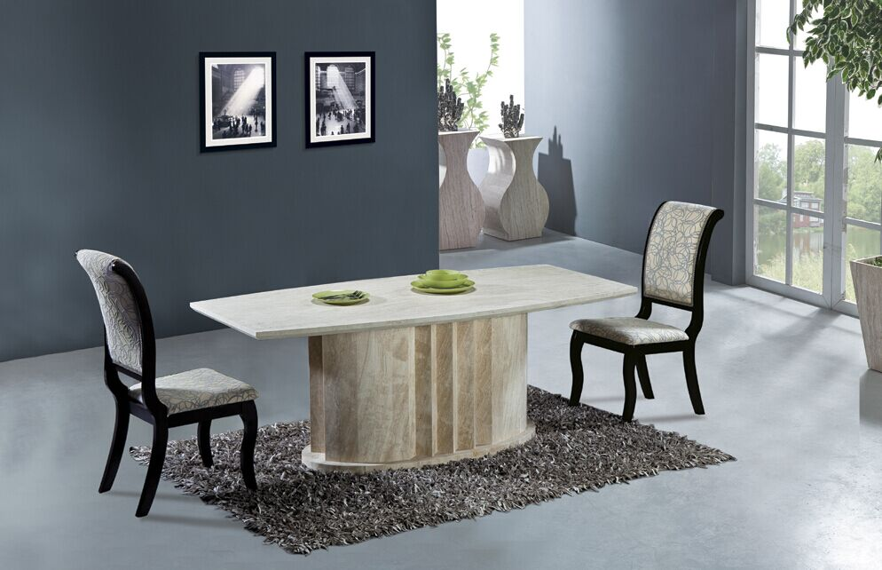 Buy natural travertine dining table set for Best dining table set