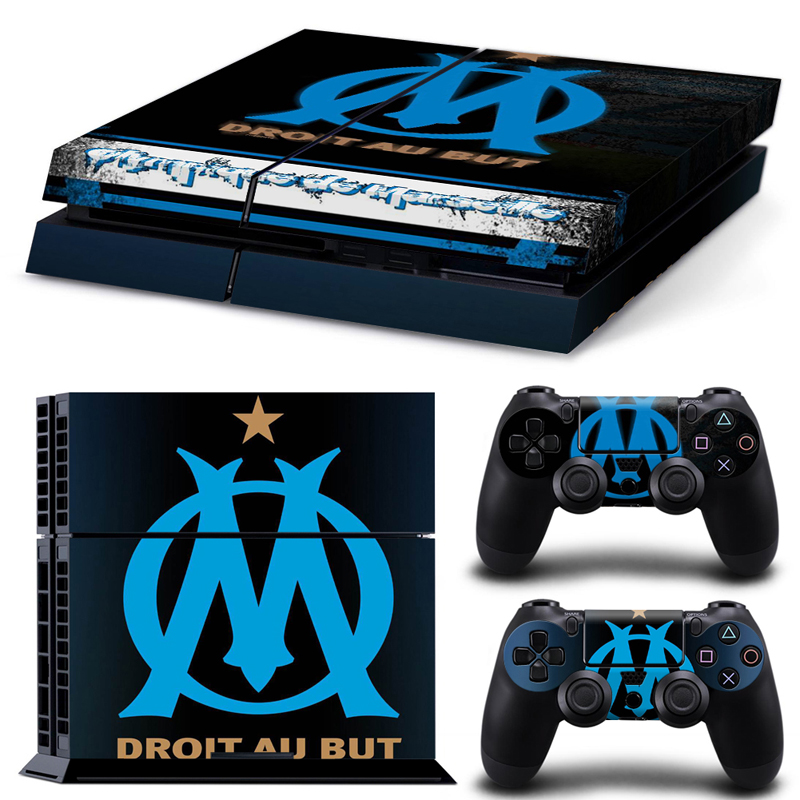 Football Team Olympique de Marseille Decal Skin For Playstation 4 PS4 Sticker PS4 Console Skin+2 Pcs Stickers For PS4 Controller<br><br>Aliexpress