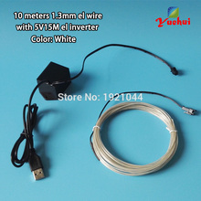 Buy DC5V 10 colors Choice 10Metres White EL Wire Glowing Flexible LED Neon Light Cable Thread Tube for House Party Decoration for $19.78 in AliExpress store