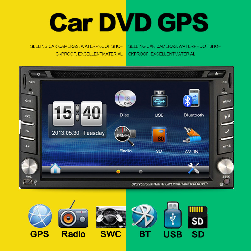 Car Electronics 2 Din Car Stereo Radio Player 6.2 inch HD In Dash Touch Screen Bluetooth Car Player Support FM/MP4/USB/AUX(China (Mainland))