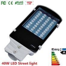 40 Вт из светодиодов улица дорожные лампы открытый двор сад AC85-265V водонепроницаемый IP65 4000LM 1 Вт * 40 шт. кри чипсы