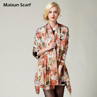 180x110cm Large Size Pure Silk Paj Scarves 100% Silk 8mm Silk Scarf Shawl(China (Mainland))