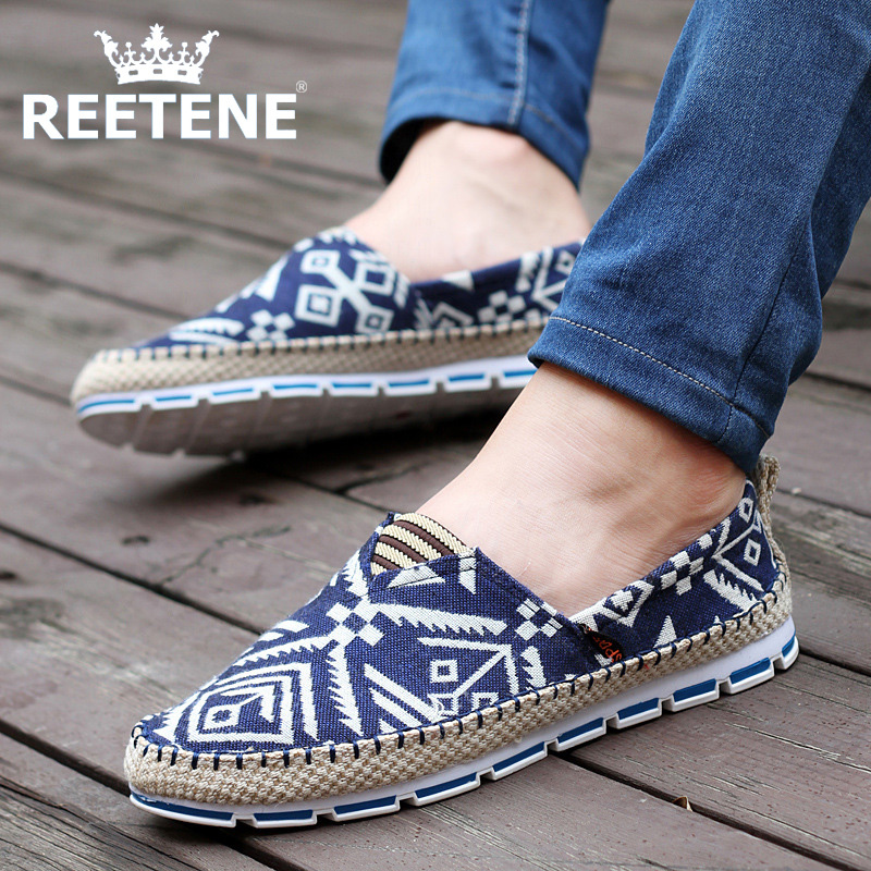 Breathable Loafer Men Shoes,Canvas Shoes,Fashion Korean Men'S Casual Shoes,Summer Old Beijing Falts Mens Shoes - REETENE store