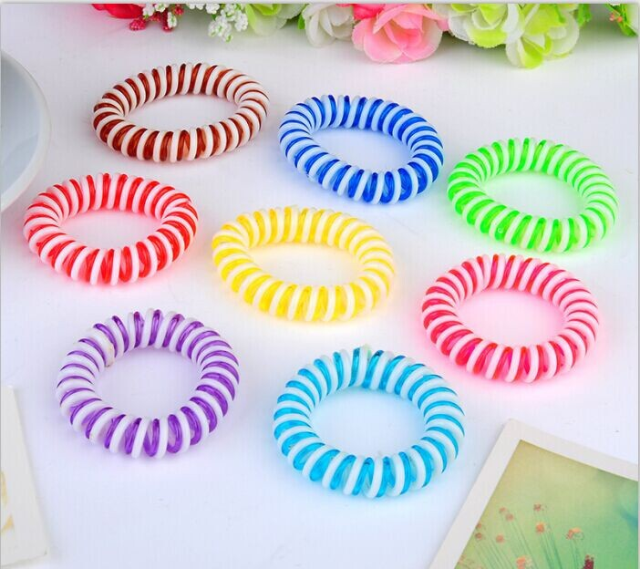 10pcs/lot two color strips hair band telephone wire line hairbands fashion headwears w2030(China (Mainland))
