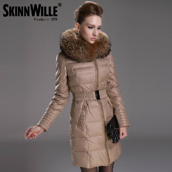Design Thick Duck Coats Women Raccoon Fur Hooded Winter Parka - Fashion Clothes & Bags Store store