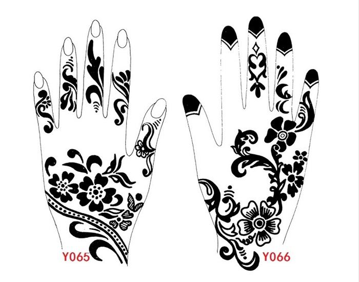 Black henna tattoo stencils old lettering tattoo for Henna temporary tattoo stencils