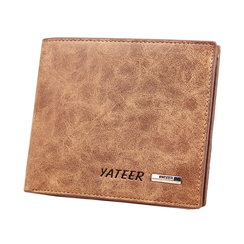 Soft leather wallet vintage style purse famous brand wallets leather male purses money bag partmone new design(China (Mainland))
