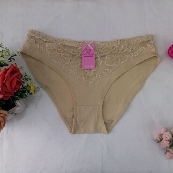 D2121 Hot Fashion Free Shipping Women BriefsSexy Lace Cotton L XL XXL Women Panties Underwear