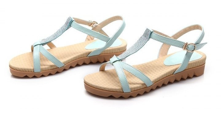 women real genuine leather bohemia slippers summer party flat sandals sexy fashion brand heeled ladies shoes size 34-39 R6124