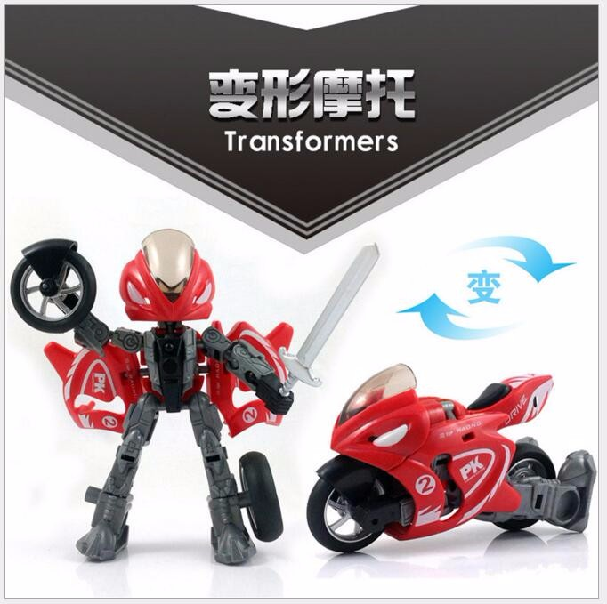 Children's educational toys DIY assembling model deform child classic collection Moto robot with lights child gift free door