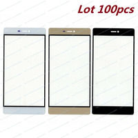 Lot 100pcs New Black White Gold OEM High Quality A+ Outer Glass Lens For Huawei Ascend P8 Phone