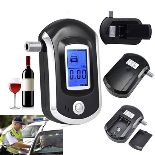 Portable Smart Breath Alcohol Tester Digital LCD Breathalyzer Analyzer AT6000(China (Mainland))