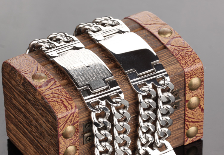 Vintage Fashion Attractive Men Jewelry Stainless Steel Bracelets Bangles Personalized Charm Man Bracelet Free Shipping 620