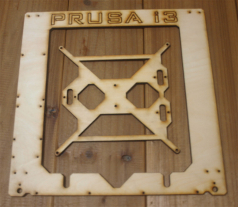 Prusa I3 Hephestos 3D printer 6mm wooden laser cut frame kit Single Sheet Framebase 3D Printer DIY 6 mm