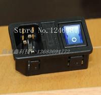 [SA]RLEIL AC AC outlet triple with blue lights switch insurance 1.5MM jack RL10-1F--20pcs/lot