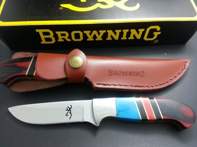Buy NEW Browning Hunting Knife Fixed 7CR17MOV Blade Knife Color Handle Survival Tactical Knifes Camping Knives Outdoor Tools kn239 cheap