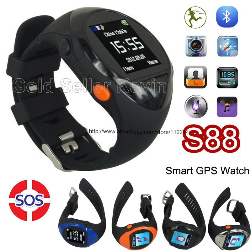 Xmas Gift for Older or Children Baby SOS Smart Watch ZGPAX S88 U Wristwatch GPS & Remote Monitoring LBS Location Mobile Phone(China (Mainland))