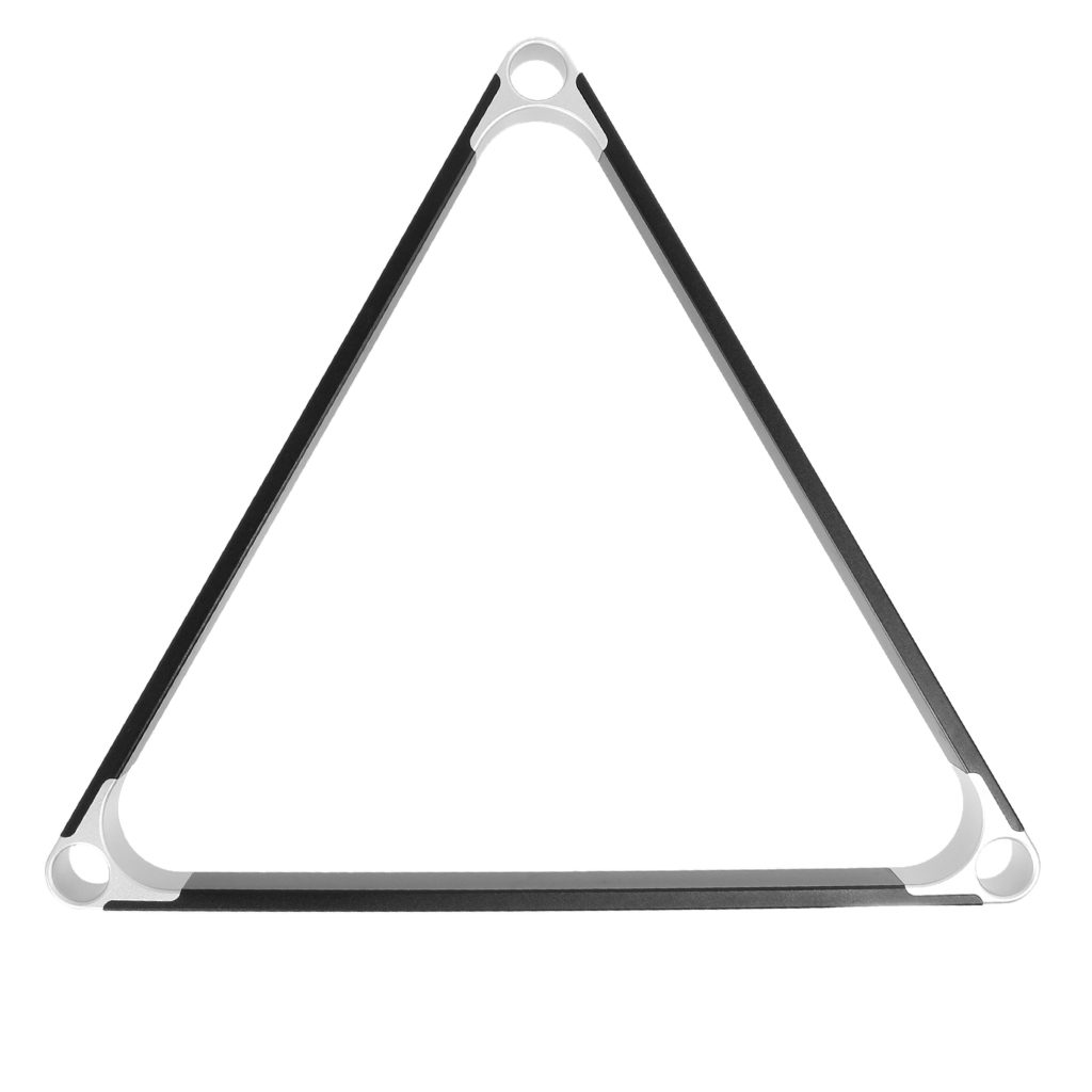 Detachable Black Stainless Steel Triangle Shape Pool/Billiard Table 8-Ball Rack Holder Cue Rack Portable Snooker Accessories(China (Mainland))