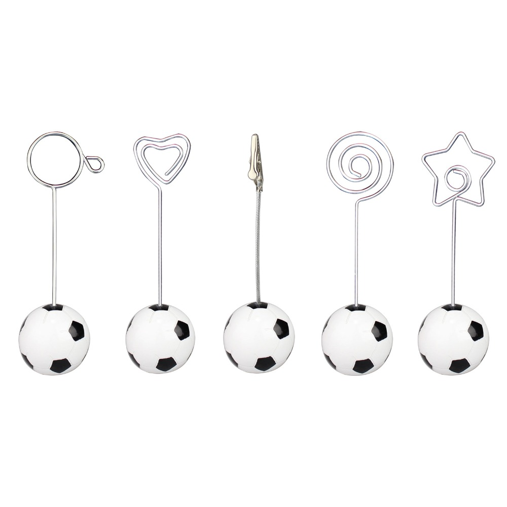 Soccer/football base wire photo clip/memo holder,stand table place card holder,sport event display deco,paper weight,wedding(China (Mainland))