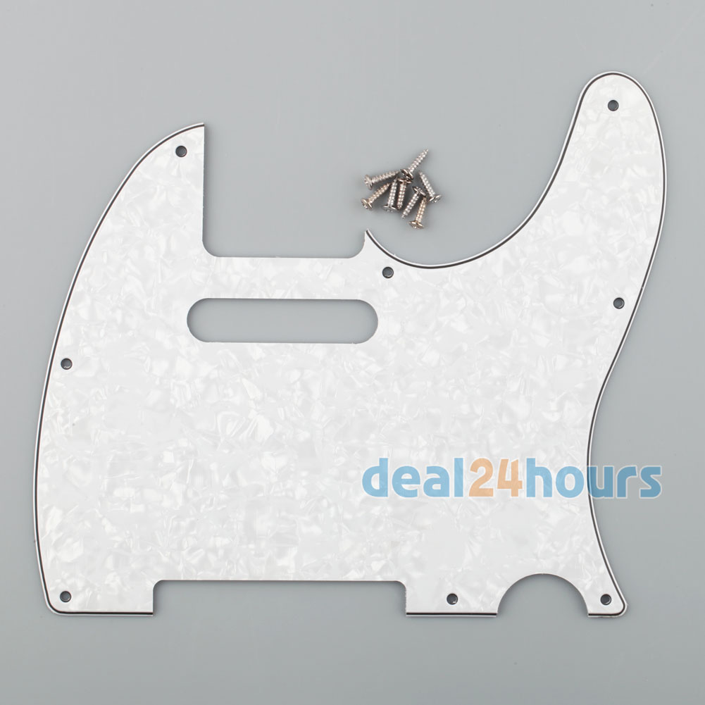 Tele Style Guitar Pickguard Scratch Plate Fits Telecaster Guitar White Pearl New(China (Mainland))