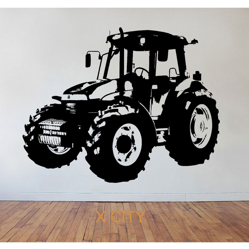 Childrens Tractor Farming WALL ART STICKER VINYL TRANSFER DECAL WINDOW DOOR KIDS ROOM STENCIL MURAL DECOR S M L XL(China (Mainland))