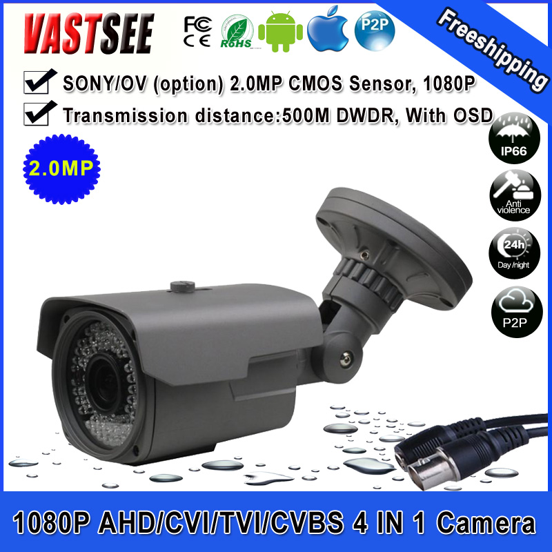 1080P 2.0MP AHD/TVI/CVI/CVBS CCTV camera sony imx322 varifocal lens outdoor waterproof security cameras de seguranca(China (Mainland))