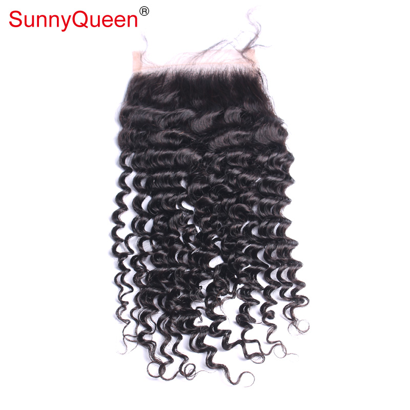Malaysian Virgin Hair Lace Closure Kinky Curly Free/Middle/Three Part Lace Top Closure 4X4 Natural Black Top Lace Closure<br><br>Aliexpress