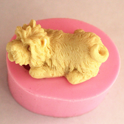 puppy dog silicone soap mold clay decoration mould handmade tools(China (Mainland))