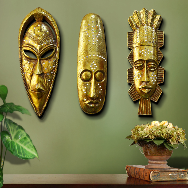 Africa nation of people like resin mask picture wall for Home decor wall hanging