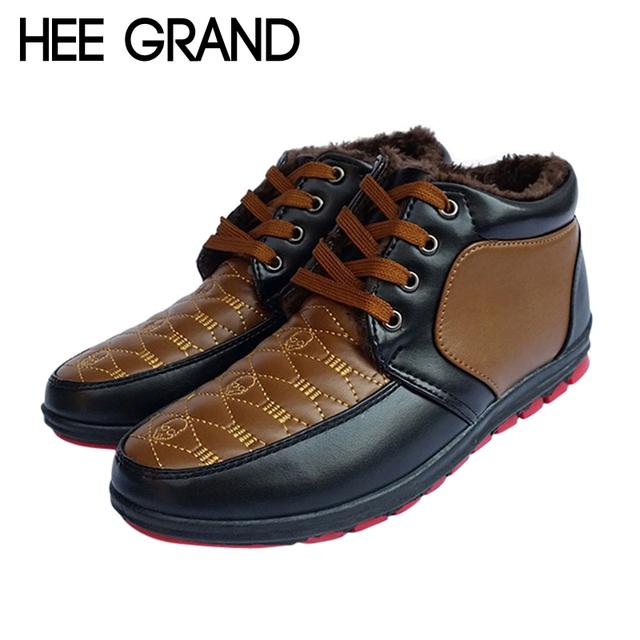 Новое поступление мужская сапоги для зима теплая лоскутное зашнуровать мужчины обувь ...