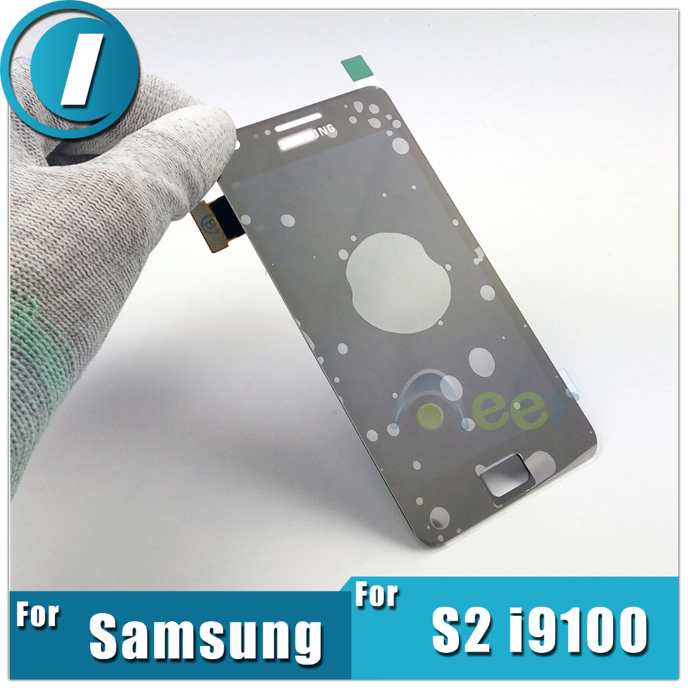 Mobile Phone LCD Touch Screen Display With Digitizer Glass Assembly Replacement For Samsung Galaxy S2 I9100 Repair Free shipping(China (Mainland))