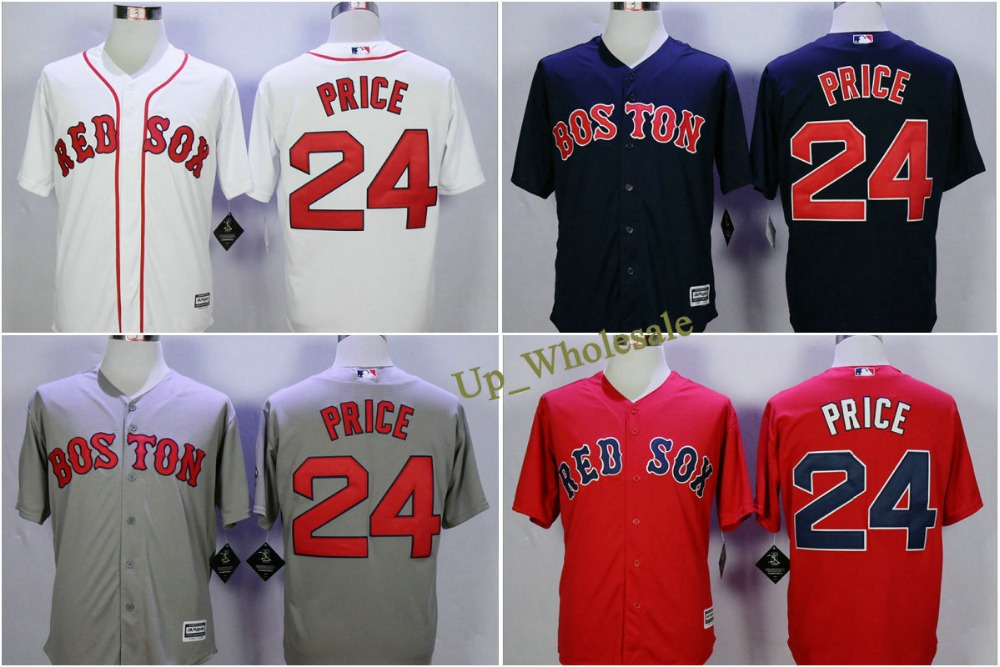 New Mens Boston Red Sox Baseball Jerseys 24 David Price Jersey 2015 Cool Base Baseball Shirts Embroidery logo<br><br>Aliexpress