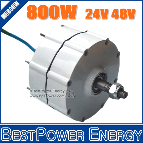 800W Three Phase AC 24V/48V Permanent Magnet Alternator, Wind Power Generator