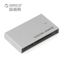 ORICO 7566C3-SV Aluminum Multifunction USB 3.0 Card Reader Adapter Support SD/TF/CF/MS/M2/XD-Silver - Direct store
