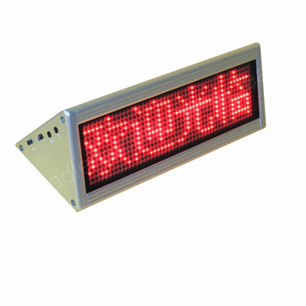 Free shipping  12x48 Dots Red double side desktop led moving sign desk board<br><br>Aliexpress
