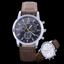 2016 Luxury Brand Watches Men Fashion Business Watches Casual Sports Watches Leather Band Quartz Watch Hours relogio masculino