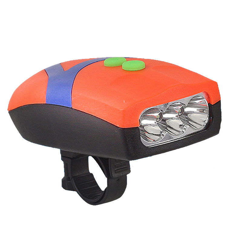 New Ultra Bright 3 LED Bike Light Bicicleta Bicycle Light Front Head Light Cycling Lamp + Electronic Bell Horn Hooter Siren(China (Mainland))